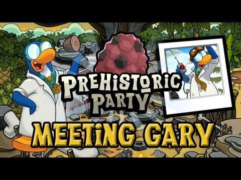 Club Penguin Meeting Gary Prehistoric Party January 2013
