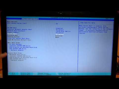как установить windows 7 вместо windows 8 HP настройка BIOS