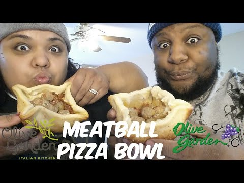 Olive Garden New Meatball Pizza Bowl Food Review