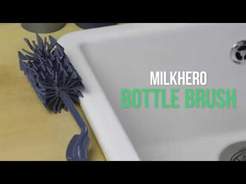 MilkHero Bottle Brush - Dishwashing - simple and clever in no time!