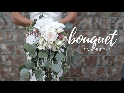 DIY WEDDING BOUQUET- $20 Cascading Boho Bouquet!