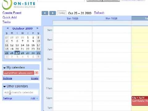 Open a shared calendar in Google Apps