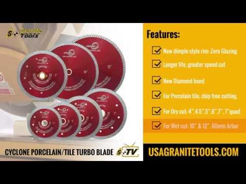Cyclone Porcelain Tile Turbo Blades
