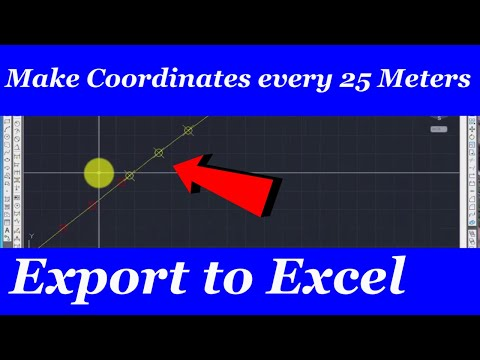 How to make Coordinates at every 25 meter of Road Center Line, Draw Curve and Export to EXCEL