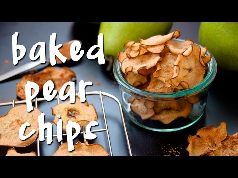 Baked Pear Chips