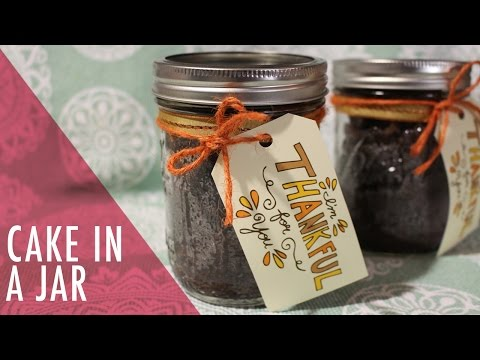 Easy Chocolate Cake in a Jar Tutorial. Tasty Delights.