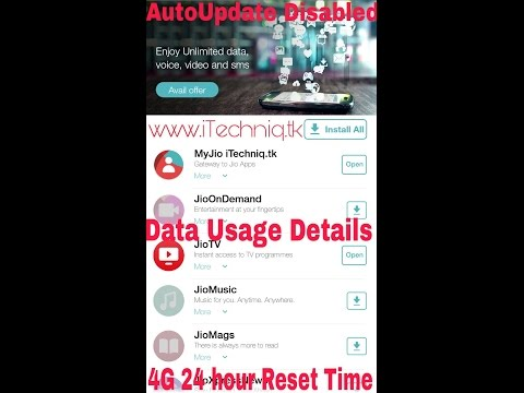 How To Check Reliance Jio 4G LTE Data Usage & AutoUpdate disabled
