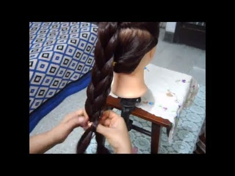 How to make a Thick Braid even with Thin hair.