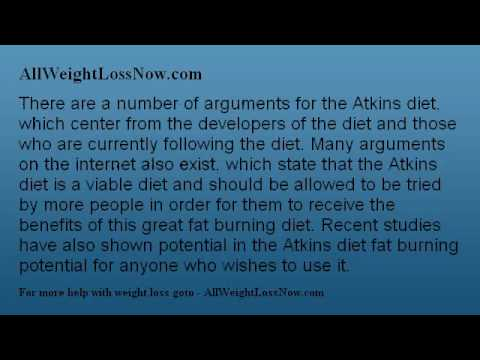 Arguments For The Atkins Diet