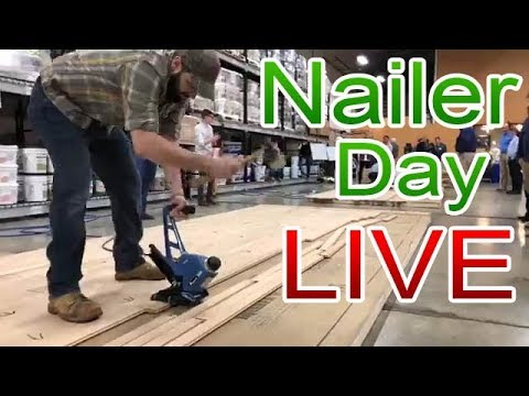 LIVE Nailer Day at City Floor Supply | Fastest Nailer in the East Contest | Hardwood Contractors