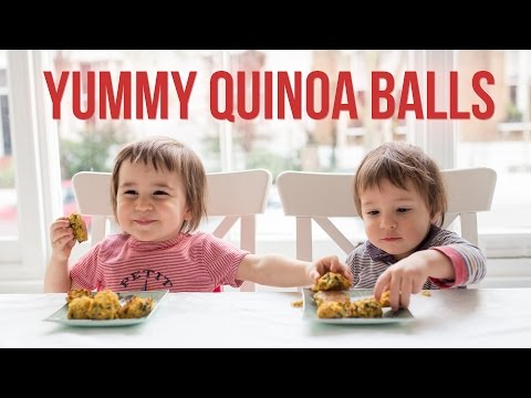 Quinoa & Sweet Potato Balls with Spinach | Gluten-Free