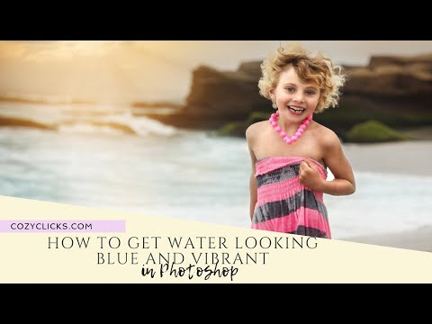 How to Get  Water  Looking Blue and Vibrant In Photoshop