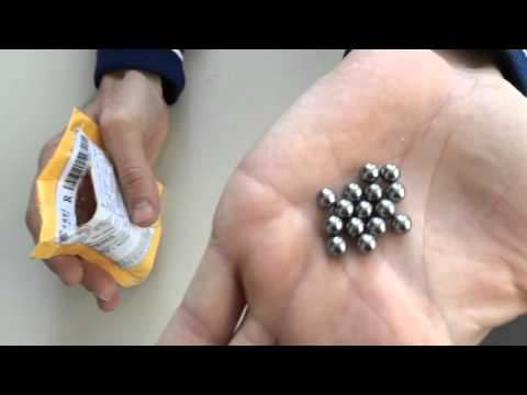 Unboxing Hunting Slingshot Stainless AMMO Steel Balls Outdoor
