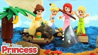 ♥ LEGO Disney Princess OCEAN ADVENTURES Compilation Stop Motion Animation Cartoons for Kids
