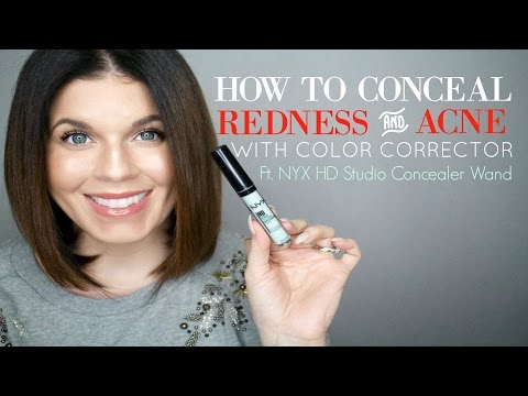 How to Conceal Redness and Acne with Makeup | Green Color Corrector | @girlythingsby_e