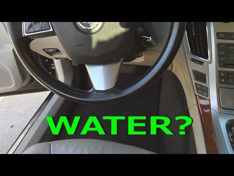 Cadillac CTS sunroof leak repair FIX drain tubes 2008-2013 wet floor headliner pillars