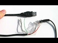 How to directly connect usb cable to any electronic circuit or device.