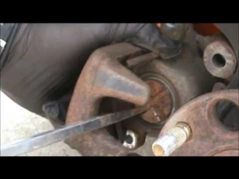 2006 Honda Accord replacing rear brake pads and rotors