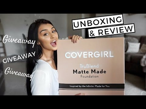 NEW Covergirl Trublend Matte Made foundation review/unboxing! GIVEAWAY!