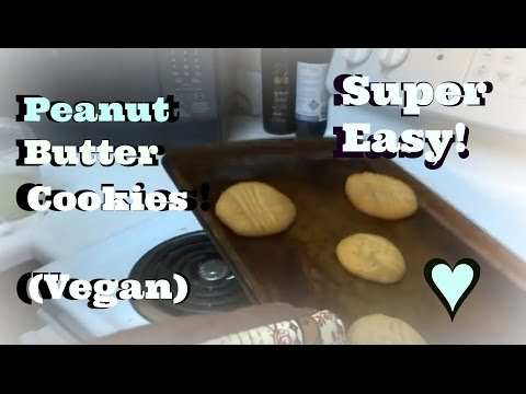 Peanut butter cookies recipe (NO EGGS♥VEGAN)