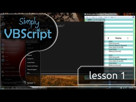 VBScript Basics, Part 1 | Message Box - Numbers (MsgBox)