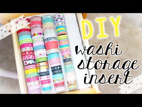 DIY Washi Tape Storage Tray (Stationery/Craft Storage & Organization)