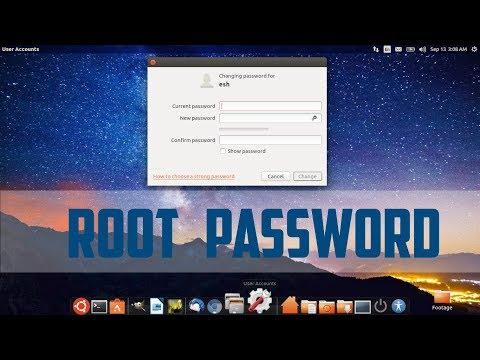 how to change root password in ubuntu
