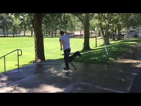One-Legged Disc Golf Drive With Broken Foot and iWalk 2.0 Peg Leg