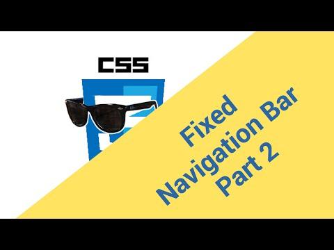 Stylin' Around - Creating a sticky Navigation Bar - Part 2