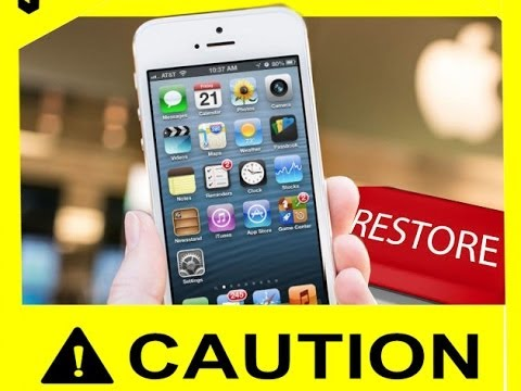 how to restore on iphone facotry settings : Works for iPhone 4 - iPod - iPad - iPhone 5s 5c