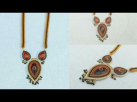 How To Make Silk Thread Necklace // How To Make Designer Necklace // DIY//Haram// Home Made Tutorial