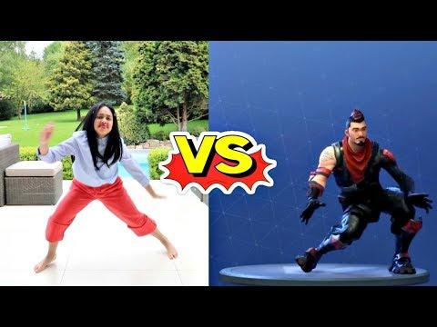 Tiana's  Fortnite Season 4 Dance Challenge In Real Life