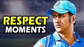 MS Dhoni Respect moments 🙏  ► Updated 2019