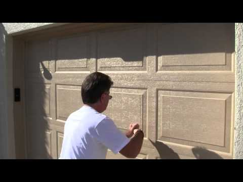 Cutting up my garage doors with a utility knife