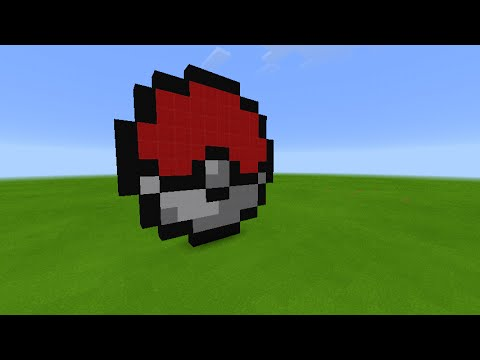 Comment faire une Pokéball ( Pixel Art ) - Minecraft PE