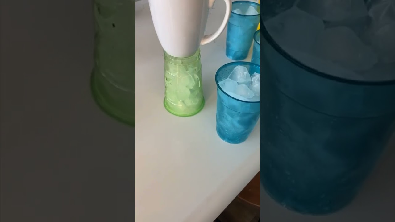 MELTED ICE IN CUPS PRANK ON MY MOM! #shorts