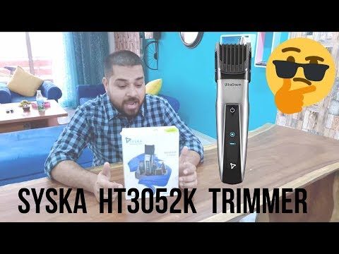 Syska HT3052K Trimmer Unboxing & First Look | 8 in 1 grooming kit with fast charging