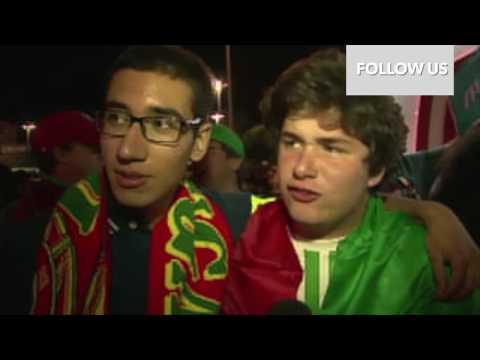 Euro 2016 Lisboa Fans reaction after Quaresma´s las minute goal