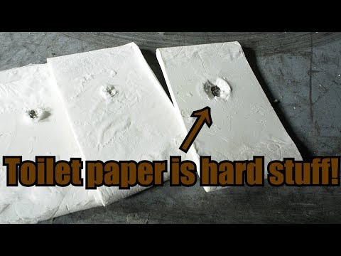 Making Level 2 Body Armor out of Toilet Paper with Hydraulic Press