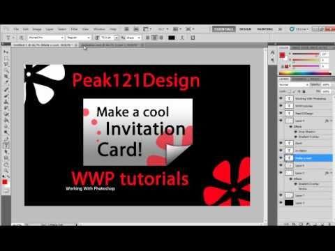 WWP tutorial #7: Make a Cool original invitation card (Photoshop)