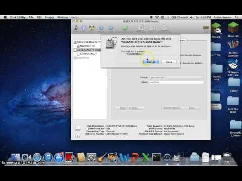 How To Reformat A Disk (Mac)