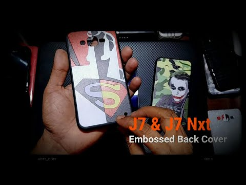 J7 & J7 Nxt Embosed Back covers