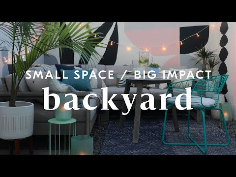 How To Create A Small Space Backyard Lounge
