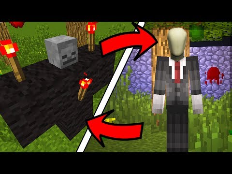 How To Spawn the Slenderman in Minecraft  (Slenderman Addon)
