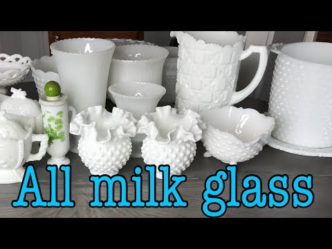 MILK GLASS HAUL 2018    Rare milk glass pieces