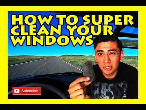 HOW TO SUPER CLEAN YOUR CAR WINDOWS & REMOVE WATER SPOTS