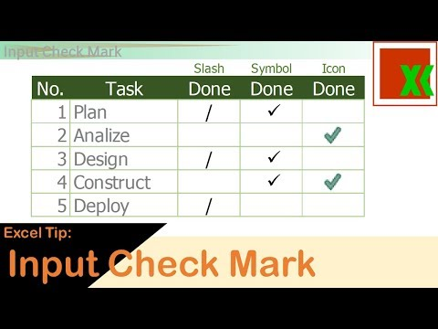 Excel Tip: Input Check Mark | ติ๊กถูก