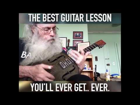 THE BEST BLUES GUITAR LESSON! [FUNNY!]
