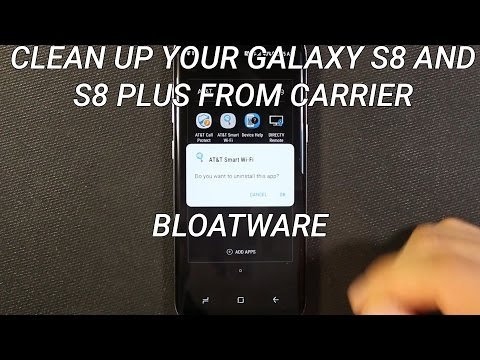 Samsung Galaxy S8 and S8 Plus Cleanup Carrier Installed Apps