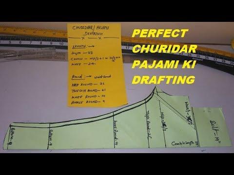 Perfect Chudidar/churidar pajami ki drafting & cutting